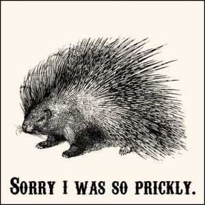 Sorry I was Prickly